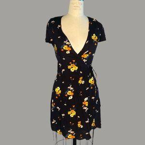 H & M Wildflower Print Wrap Dress